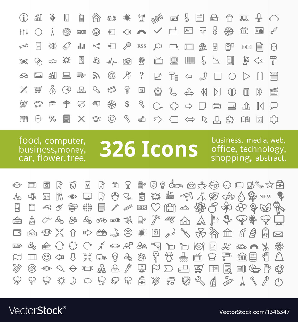 Icons collection vector | Price: 1 Credit (USD $1)