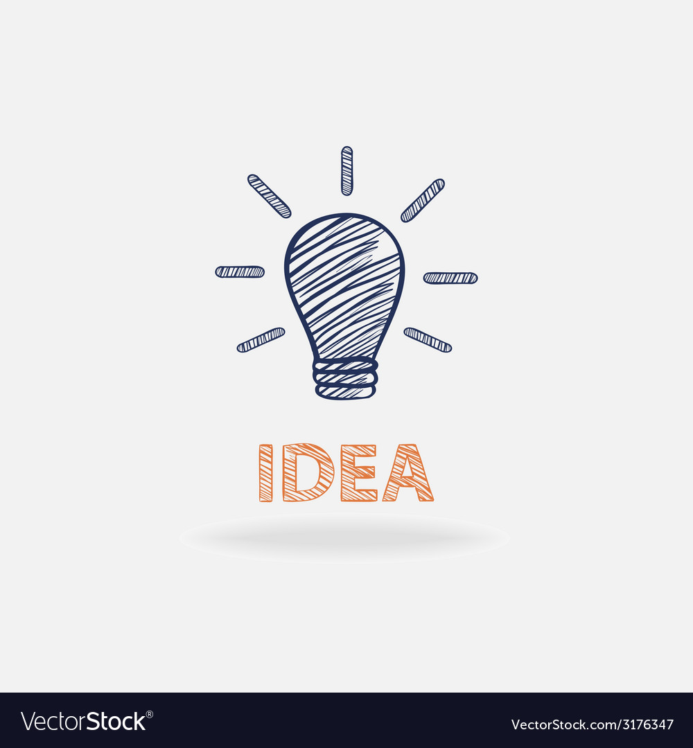 Idea conceptual with shadow and text isolated vector | Price: 1 Credit (USD $1)