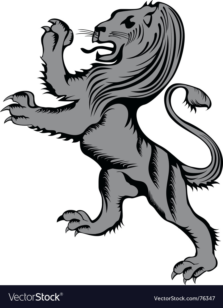 Lion herald vector | Price: 1 Credit (USD $1)