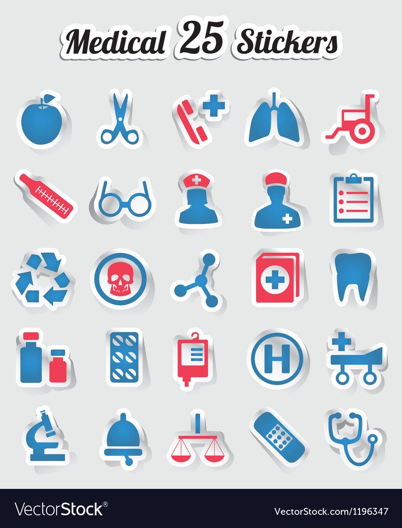 Medical stickers - part 1 vector | Price: 1 Credit (USD $1)
