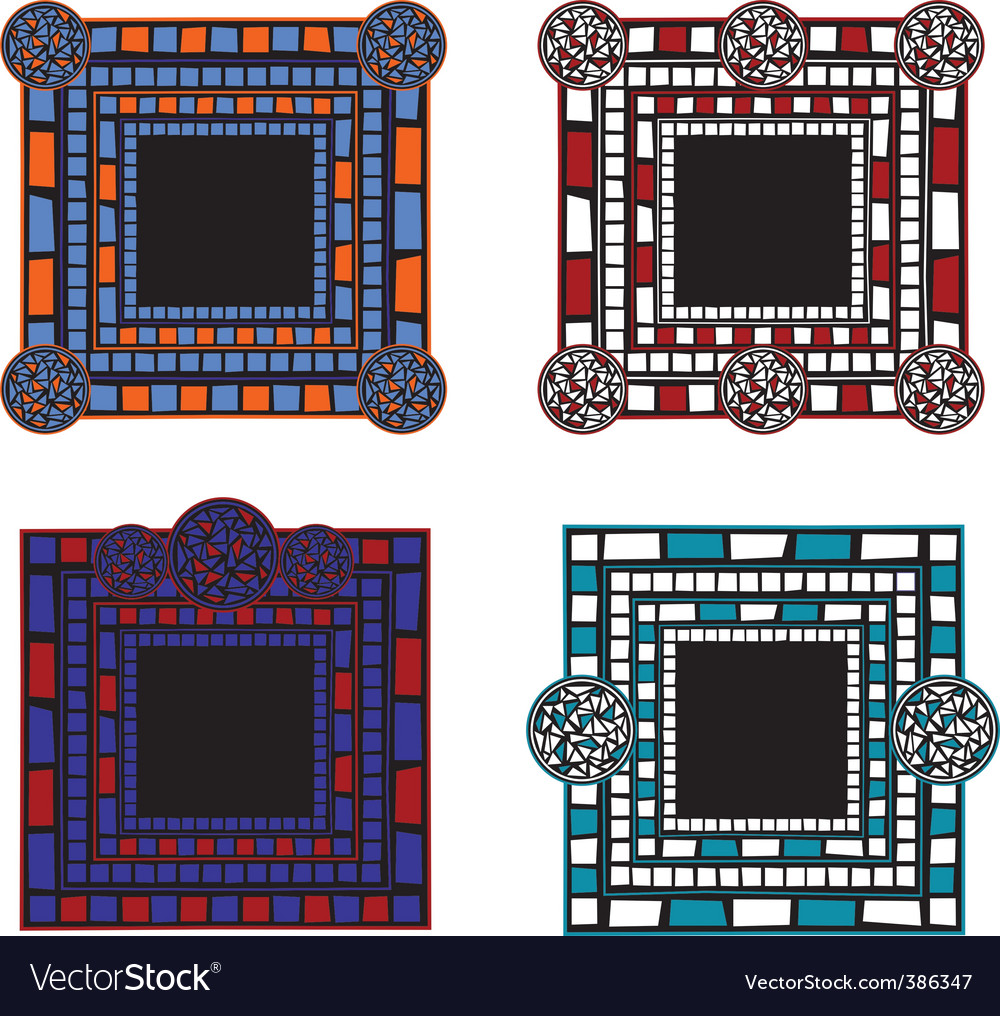 Mosaic border vector | Price: 1 Credit (USD $1)
