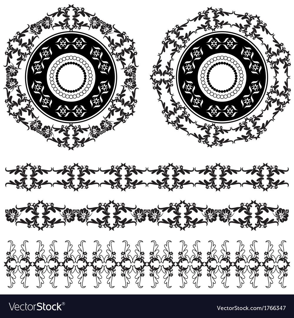 Oriental border and ornament five vector | Price: 1 Credit (USD $1)