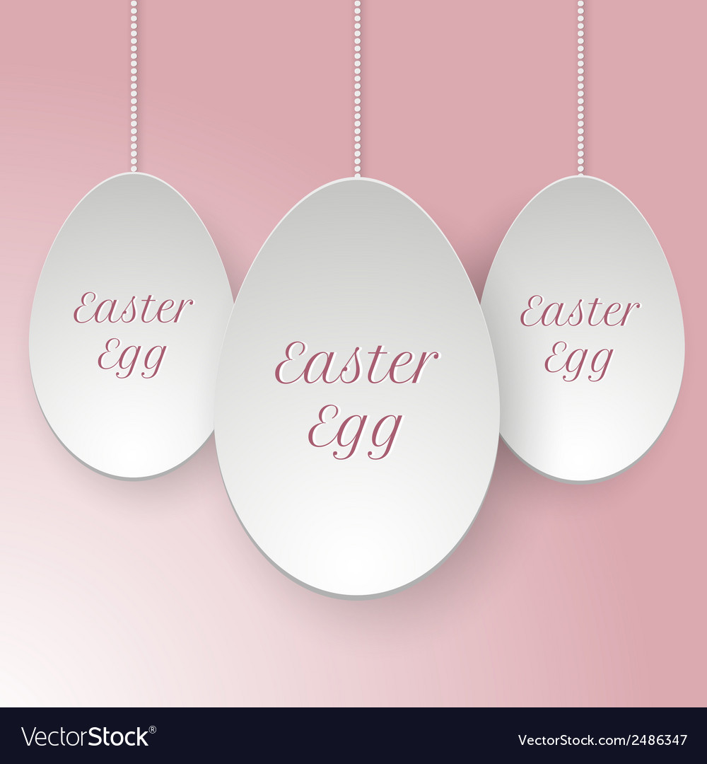 Paper easter egg template vector | Price: 1 Credit (USD $1)