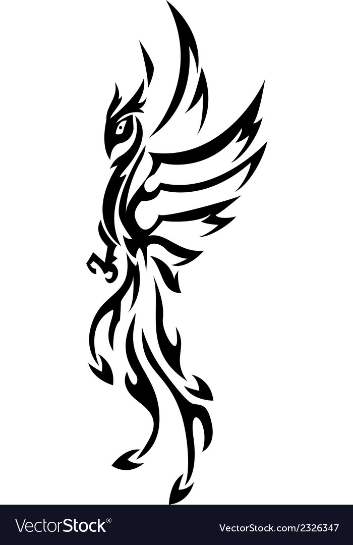 Phoenix tattoo tribal vector | Price: 1 Credit (USD $1)