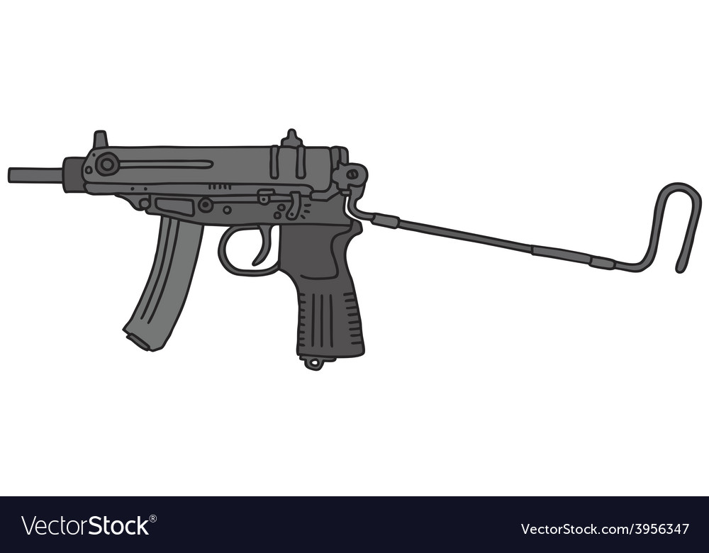 Small automatic gun vector | Price: 1 Credit (USD $1)