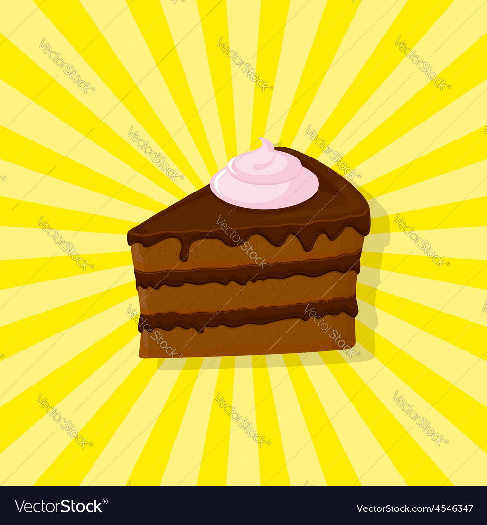 Sweet chocolate cake vector | Price: 1 Credit (USD $1)