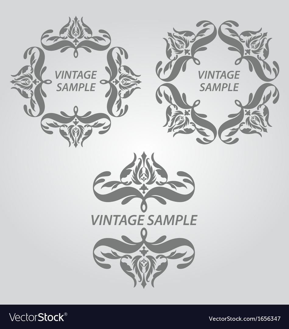Vintage elements of design vector | Price: 1 Credit (USD $1)