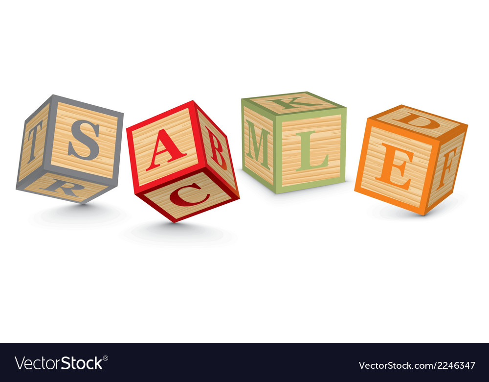 Word sale written with alphabet blocks vector | Price: 1 Credit (USD $1)