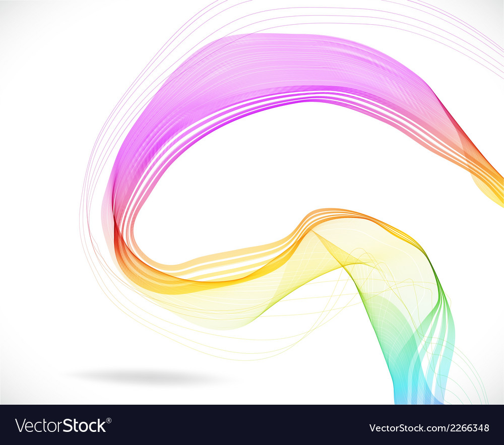 Abstract colorful background with wave vector | Price: 1 Credit (USD $1)