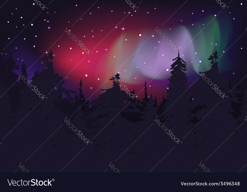 Aurora boreal vector | Price: 1 Credit (USD $1)