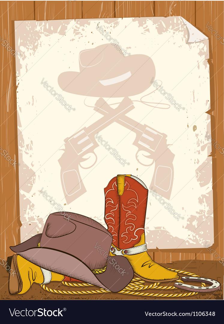 Cowboy background vector | Price: 1 Credit (USD $1)