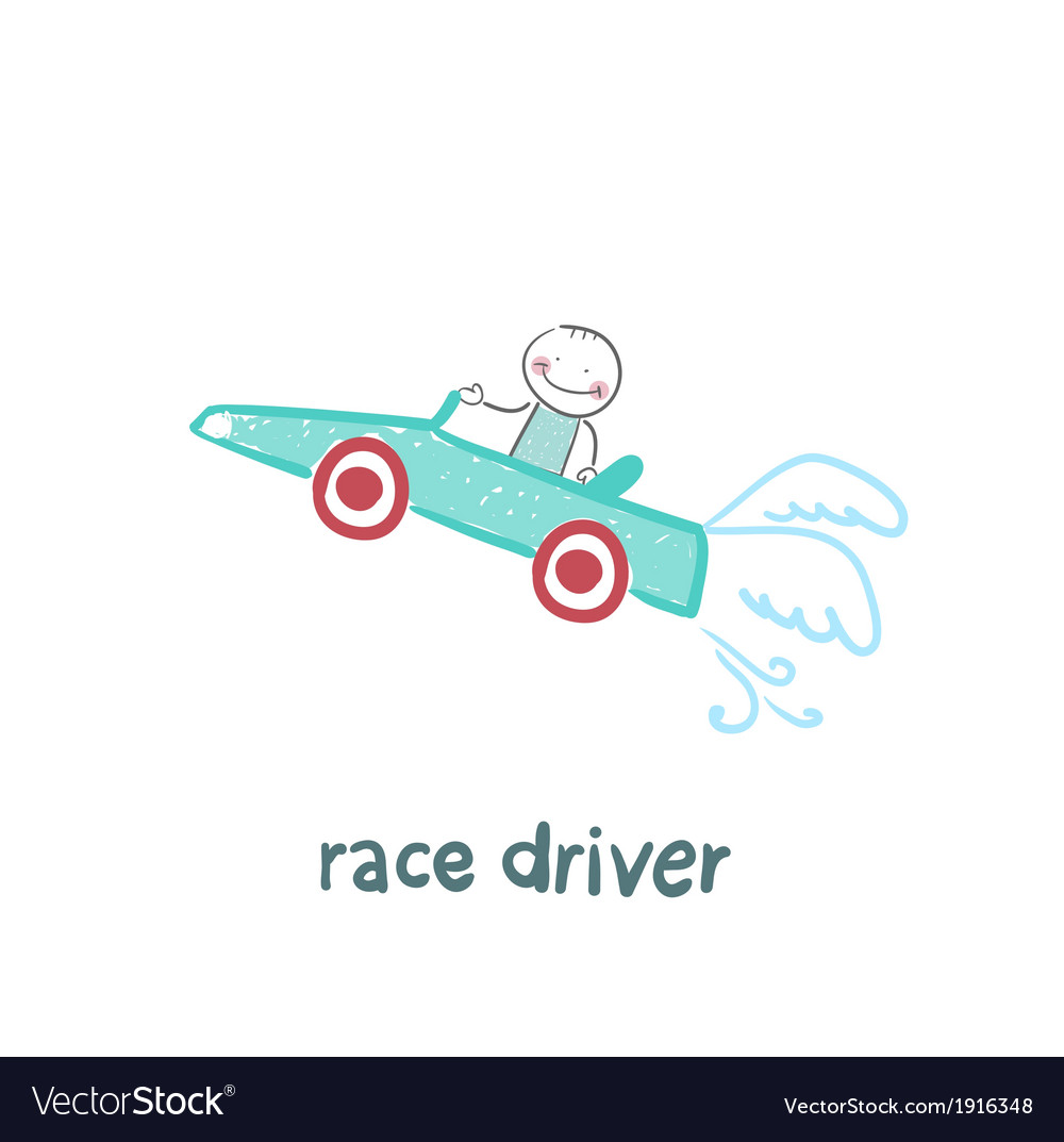 Driver rides flies in the car vector | Price: 1 Credit (USD $1)