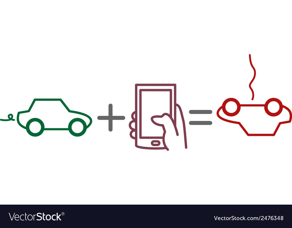 Driving and using phone vector