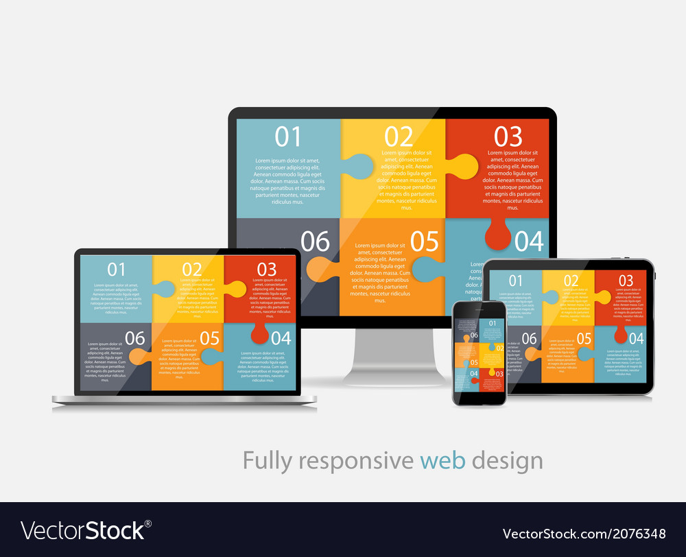 Fully responsive web design concept vector | Price: 1 Credit (USD $1)