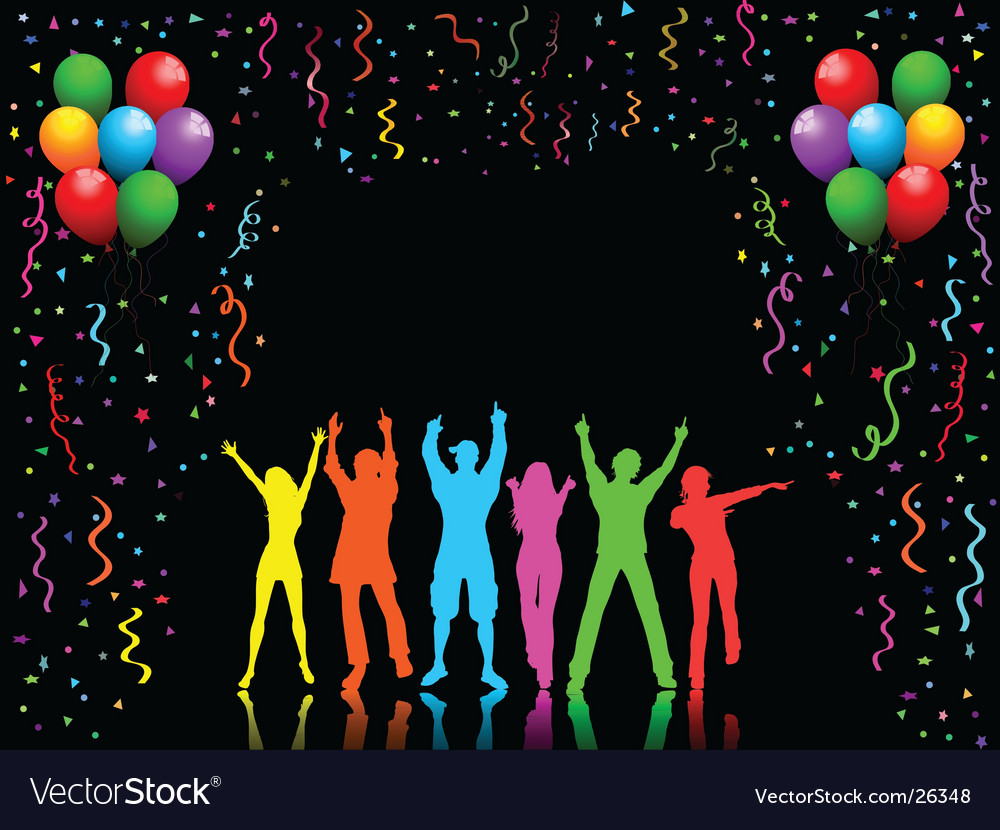 Party people dancing vector | Price: 1 Credit (USD $1)