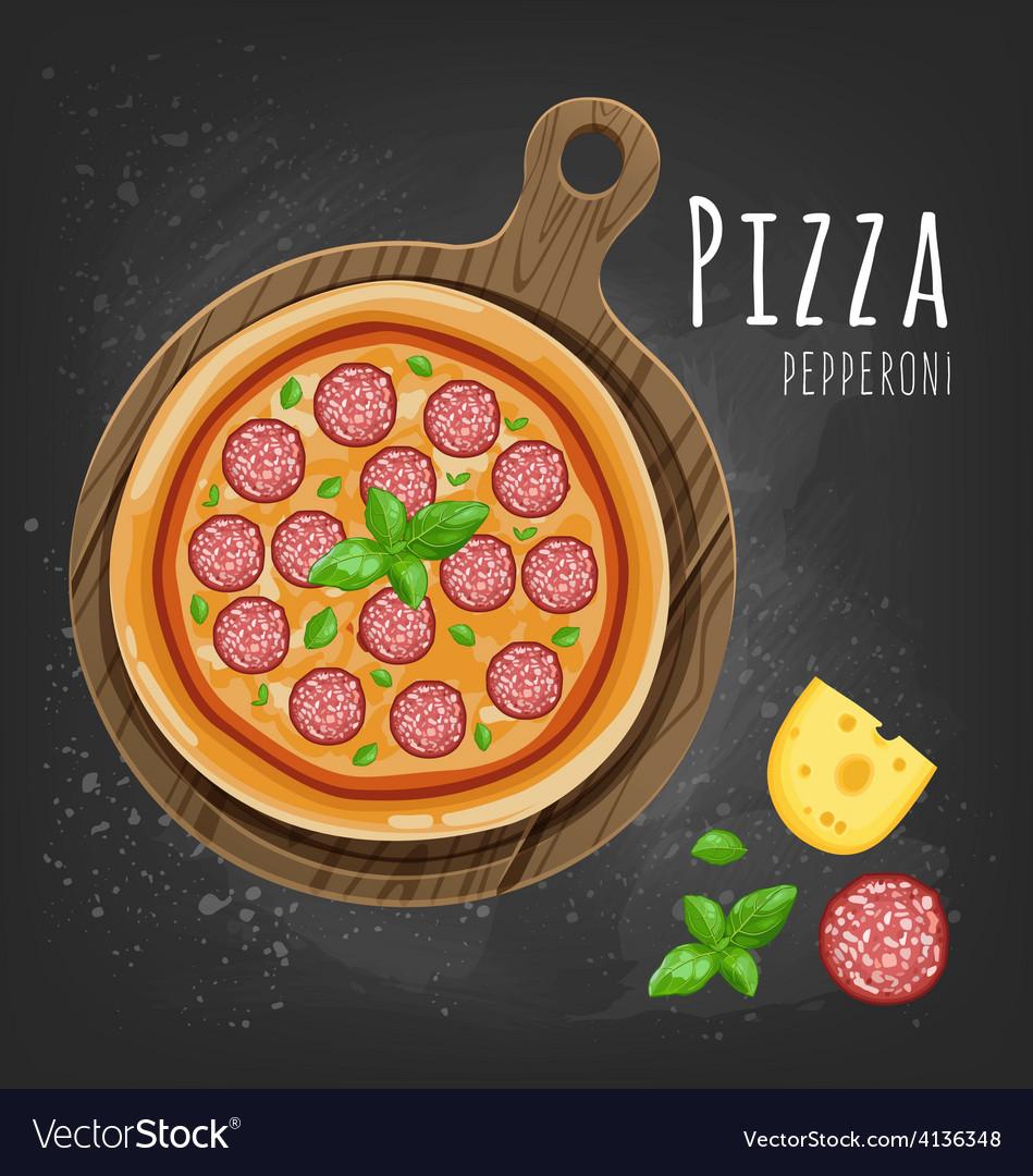Pizza pepperoni vector | Price: 1 Credit (USD $1)