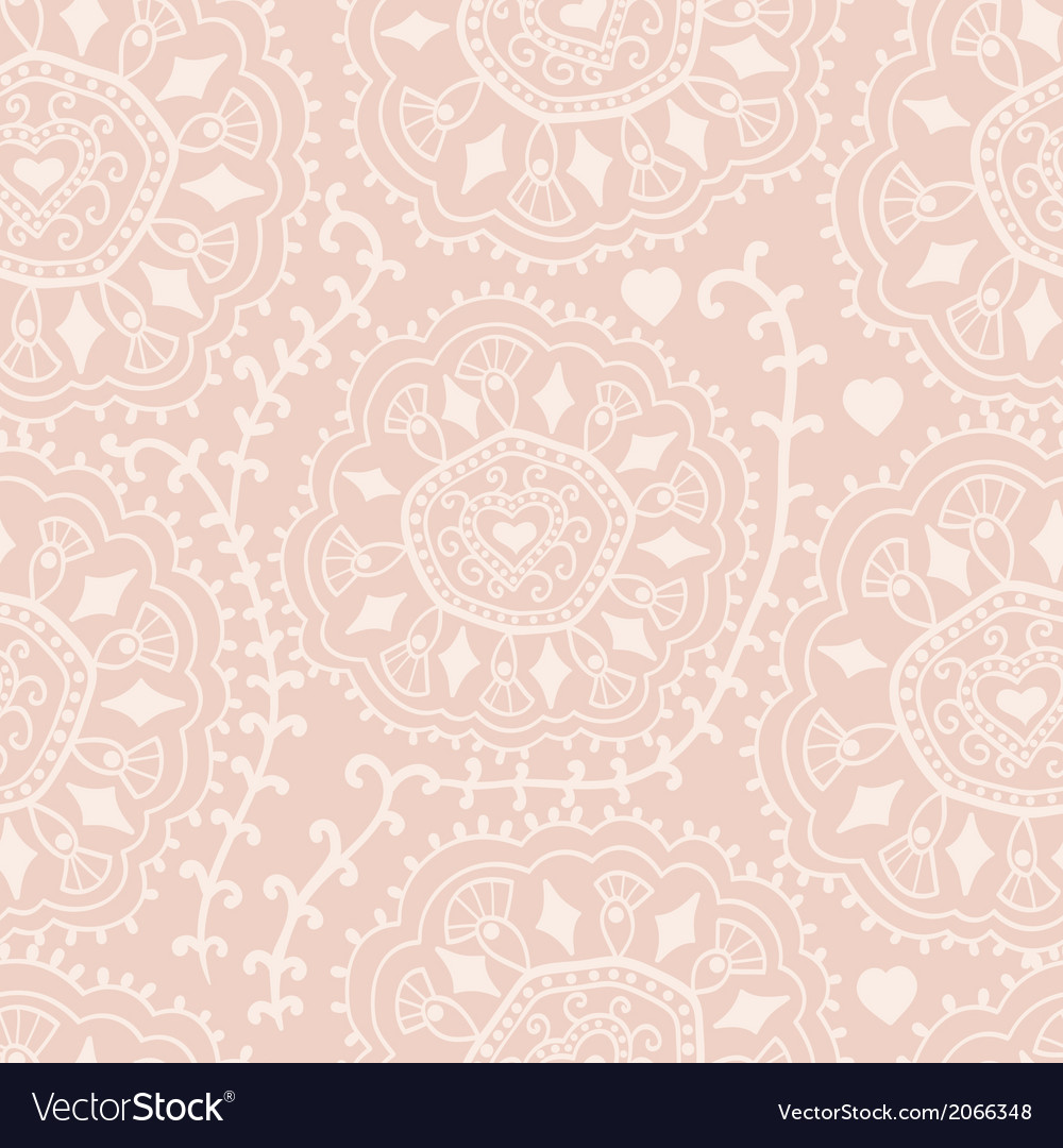 Retro background lace seamless pattern ornate vector | Price: 1 Credit (USD $1)