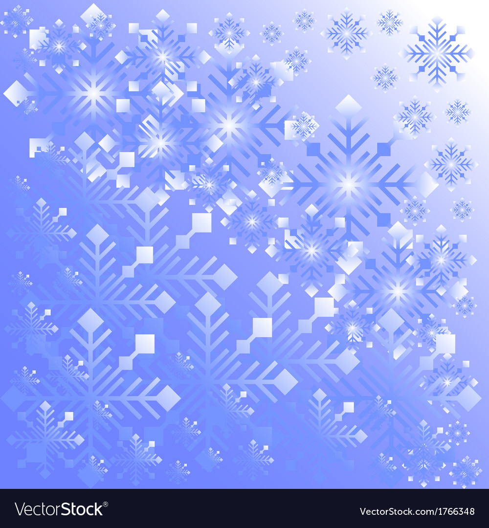Snowflake light background vector | Price: 1 Credit (USD $1)