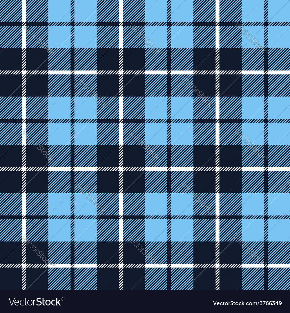 Blue tartan fabric texture in a square pattern vector | Price: 1 Credit (USD $1)