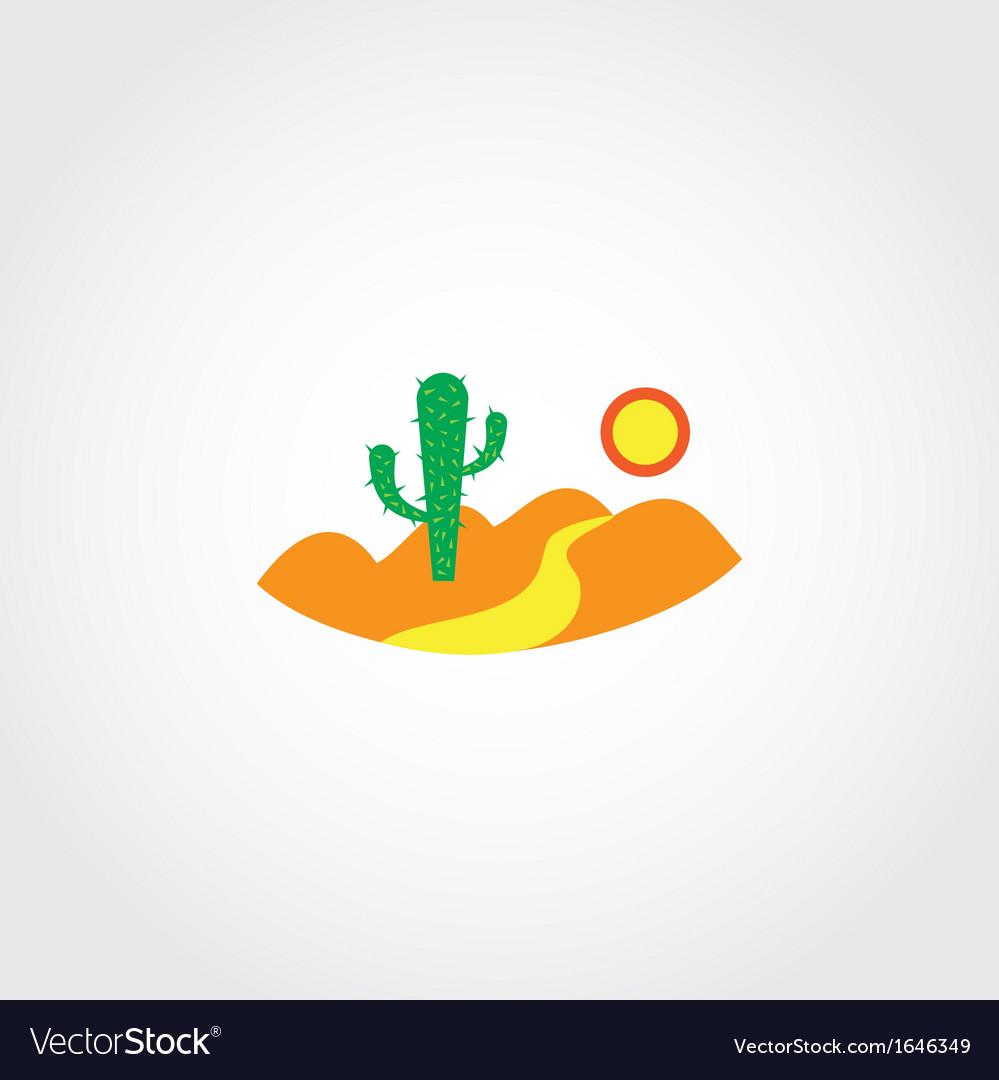 Desert icon vector | Price: 1 Credit (USD $1)