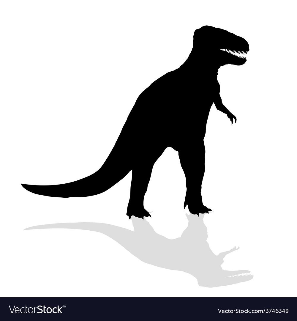 Dinosaur silhouette vector | Price: 1 Credit (USD $1)