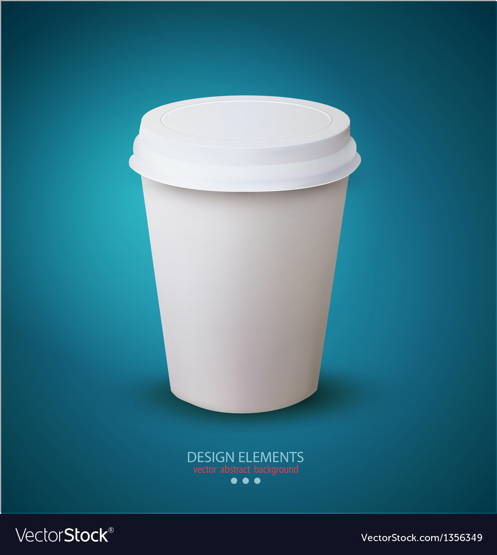 Disposable paper cup vector | Price: 1 Credit (USD $1)