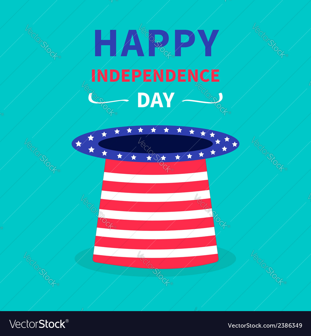 Hat with stars and strip happy independence day vector | Price: 1 Credit (USD $1)