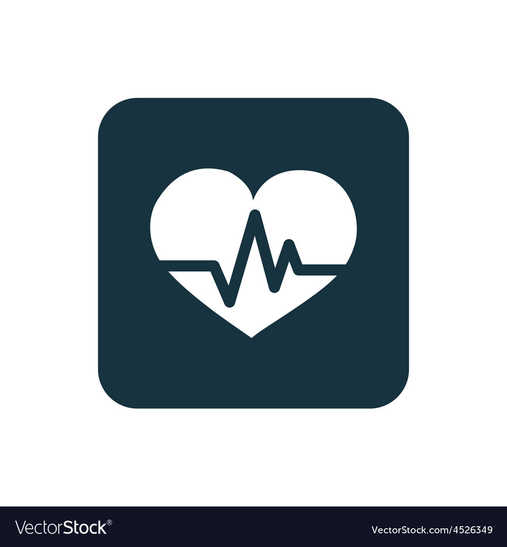 Heart pulse icon rounded squares button vector | Price: 1 Credit (USD $1)