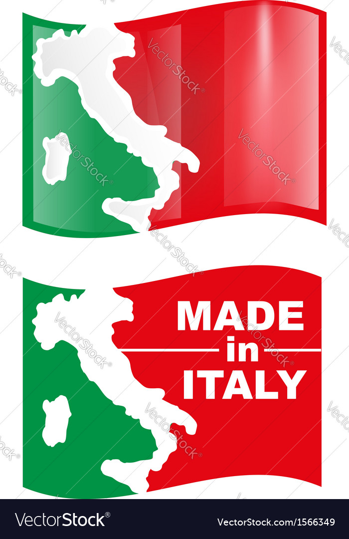Made in italy flag vector | Price: 1 Credit (USD $1)