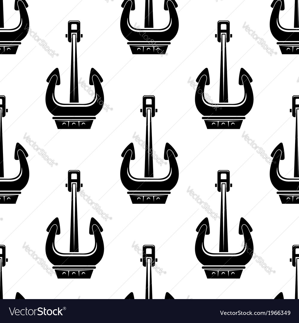 Seamless pattern of marine anchors vector | Price: 1 Credit (USD $1)
