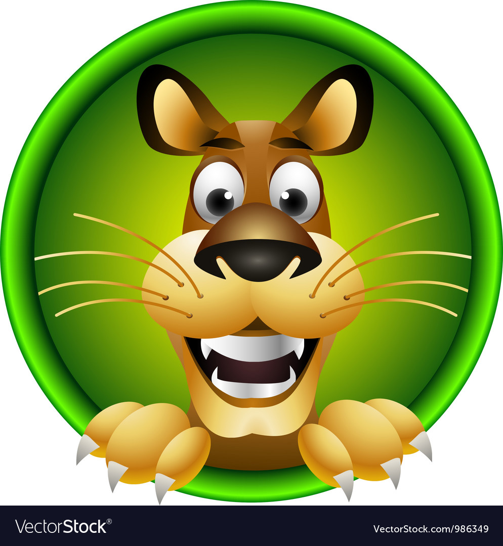 Skinny cute cartoon lion isolated vector | Price: 3 Credit (USD $3)