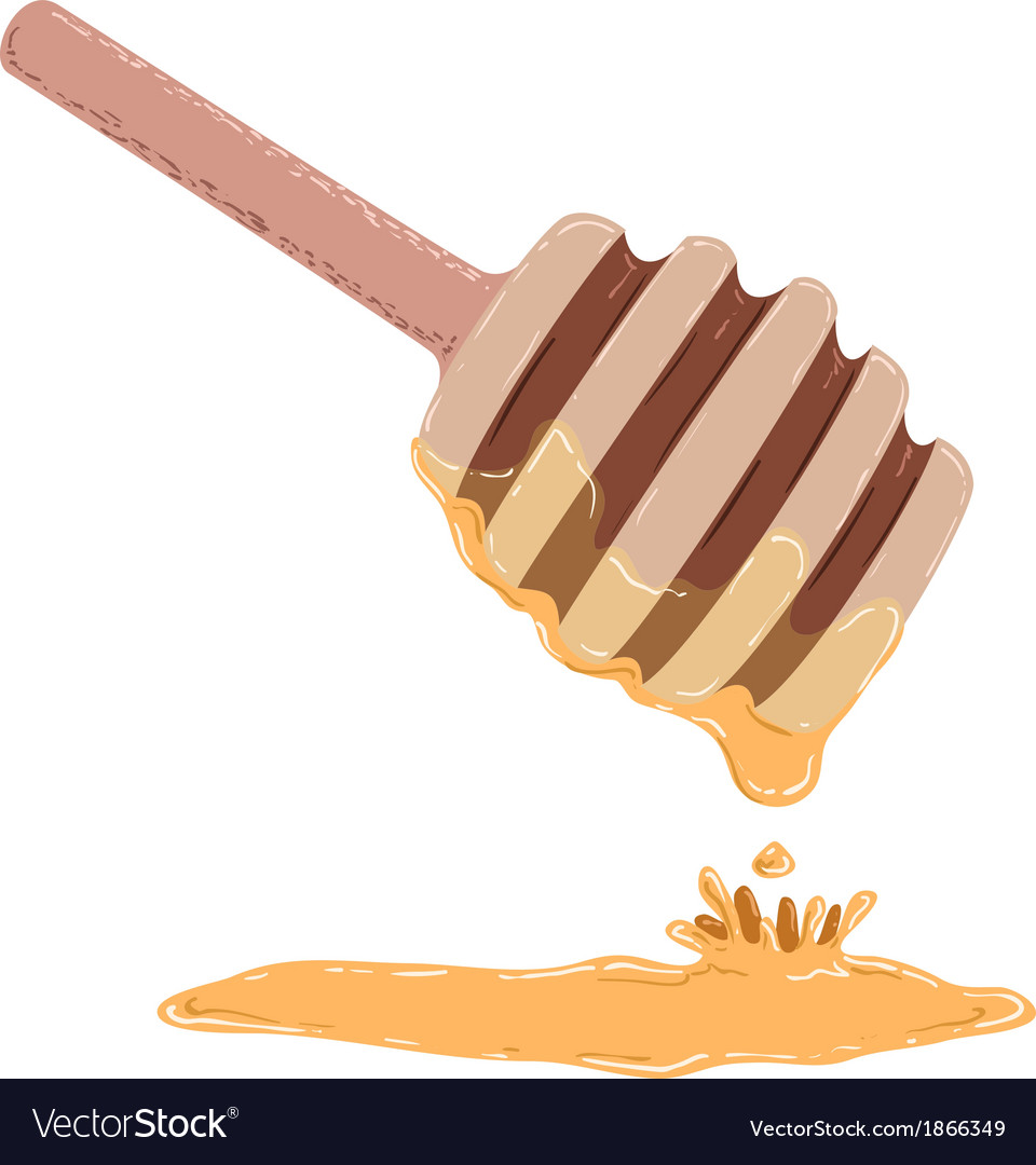 Stick dripping with honey vector | Price: 1 Credit (USD $1)