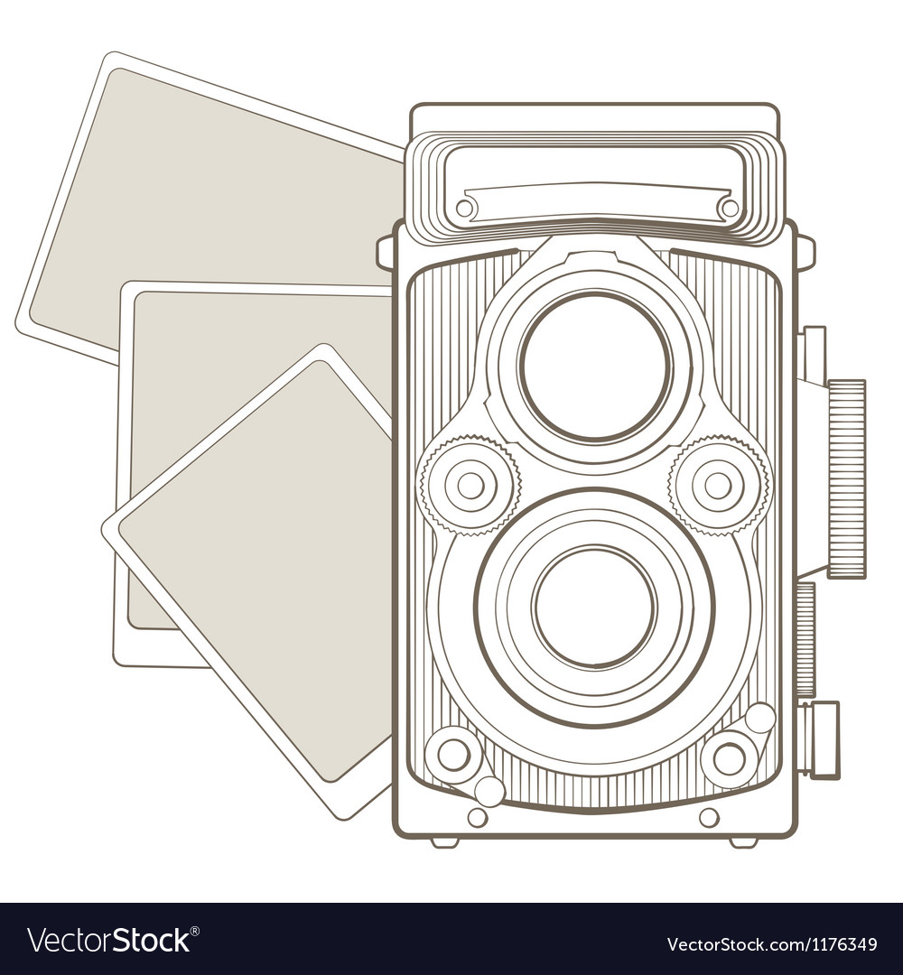 Vintage photo camera with vignette vector   Price: 1 Credit (USD $1)