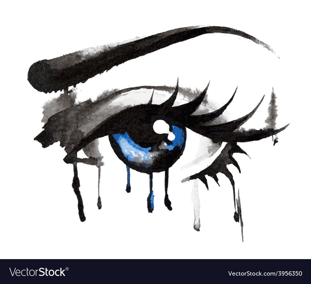 Beautiful eyes hand-drawn vector | Price: 1 Credit (USD $1)