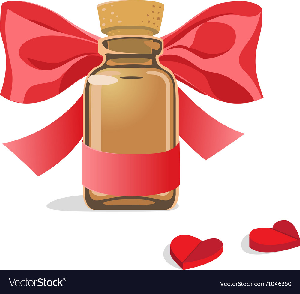 Bottle of pills hearts vector | Price: 1 Credit (USD $1)