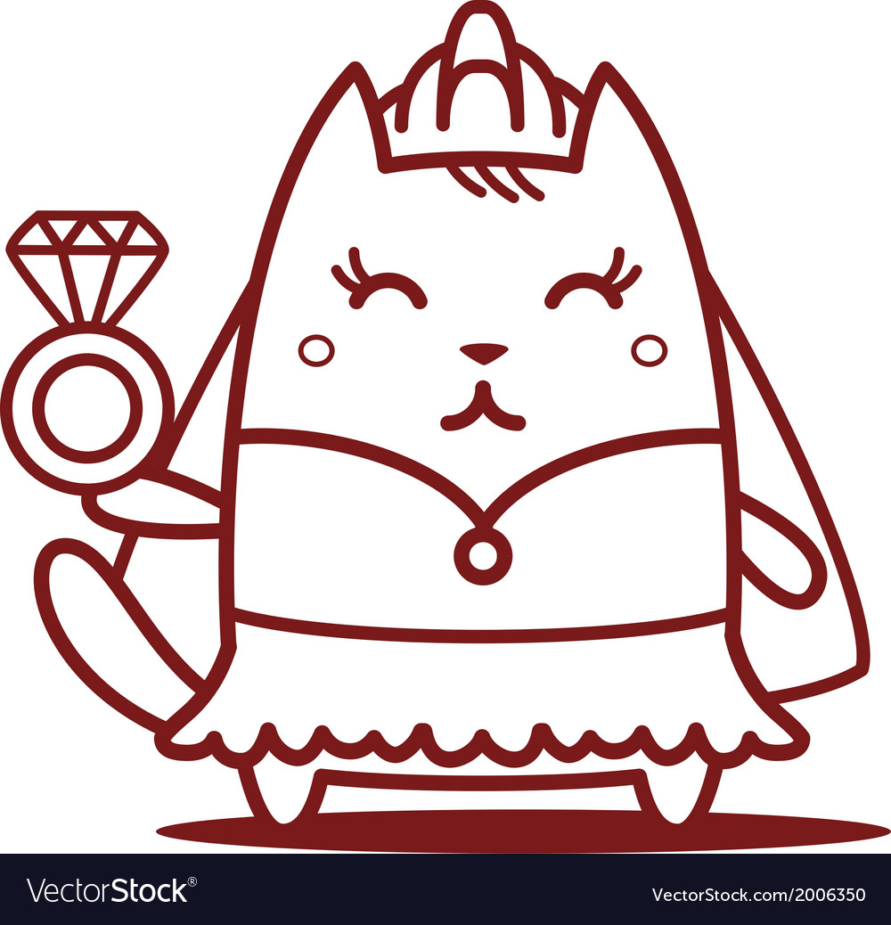Cartoon cat character vector | Price: 1 Credit (USD $1)