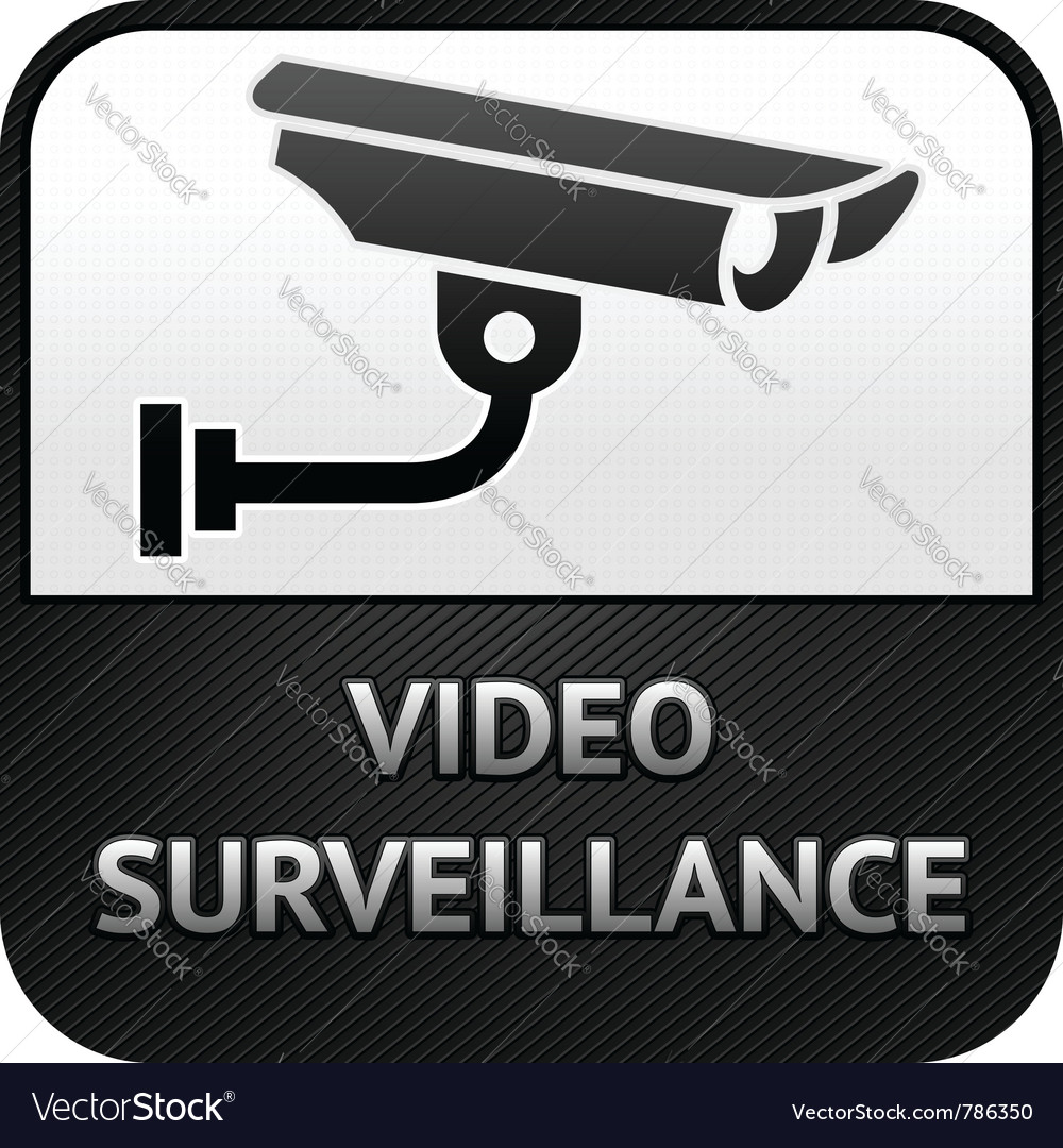 Cctv symbol video surveillance sign security camer vector | Price: 1 Credit (USD $1)