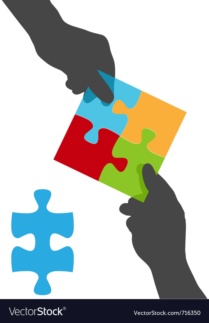 Collaborate puzzle vector | Price: 1 Credit (USD $1)