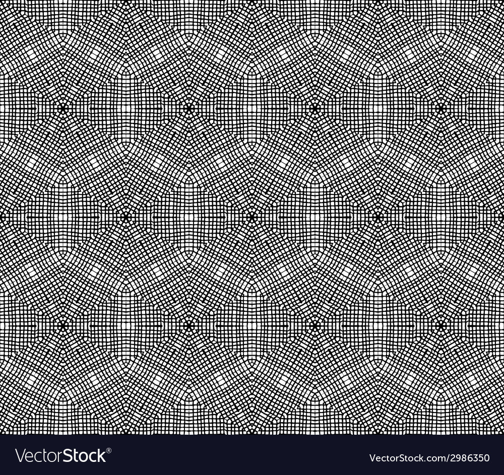 Crochet hexagons seamless pattern vector | Price: 1 Credit (USD $1)