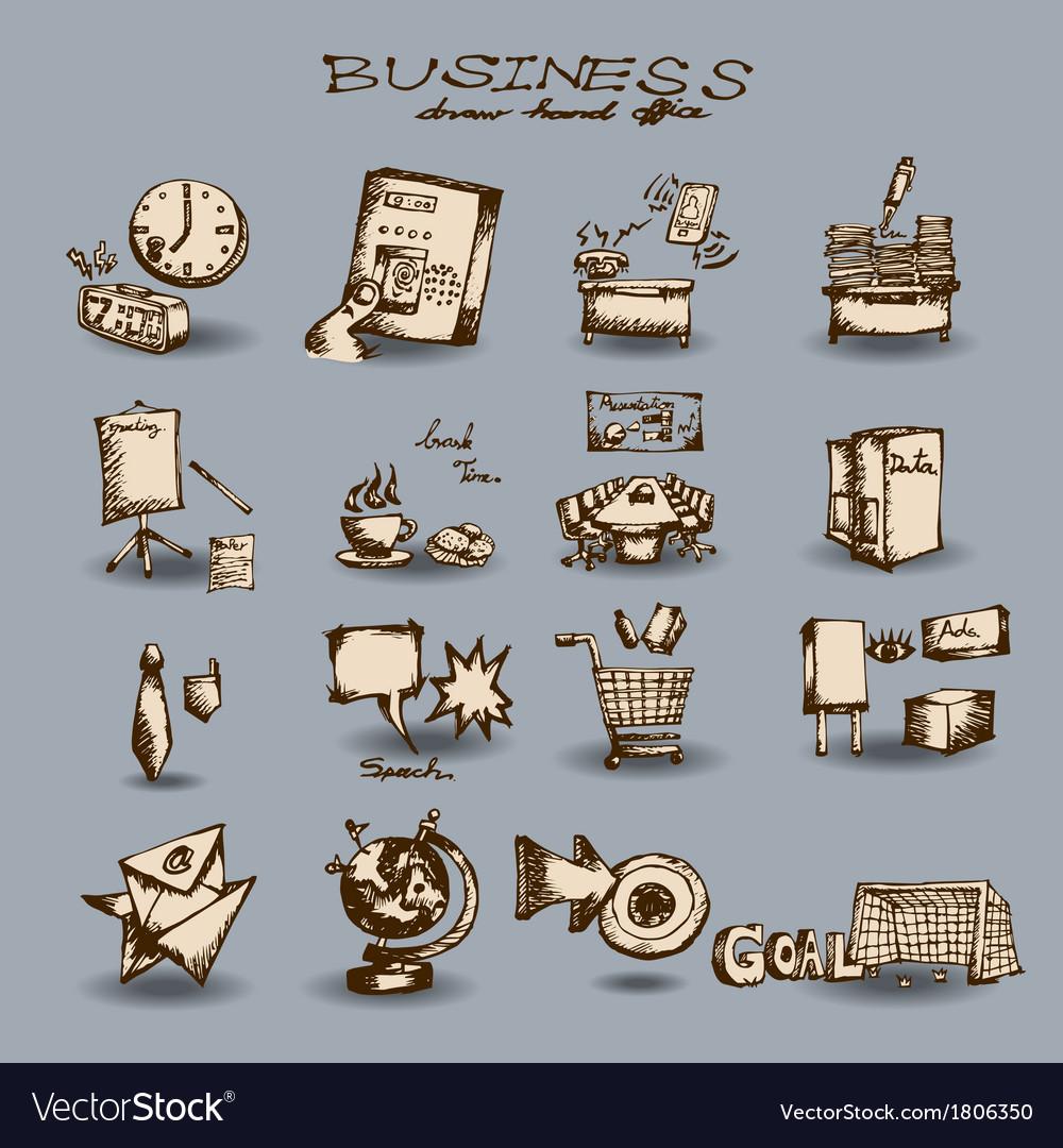 Doodle business set vector   Price: 1 Credit (USD $1)