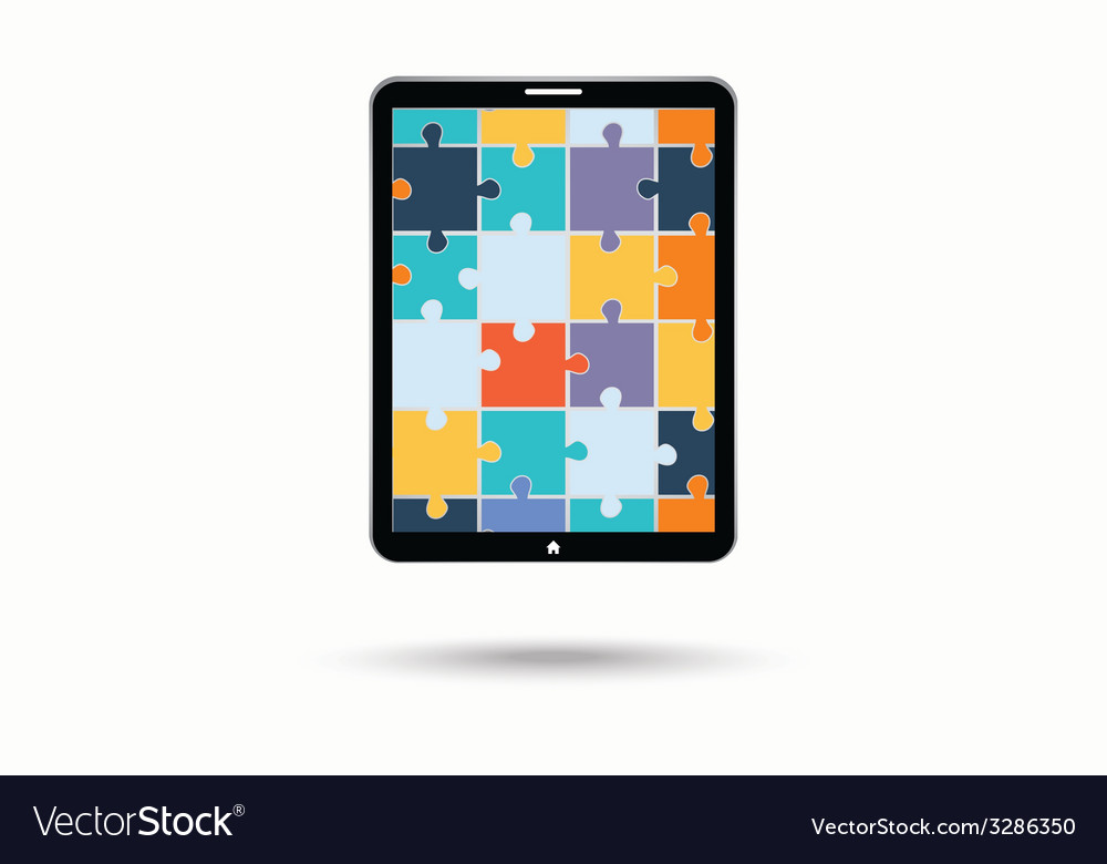 The electronic device with puzzles vector | Price: 1 Credit (USD $1)
