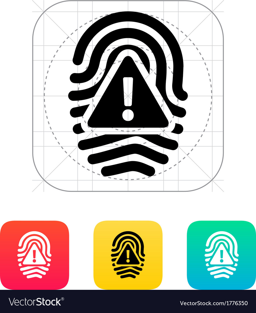 Fingerprint scan error icon vector | Price: 1 Credit (USD $1)
