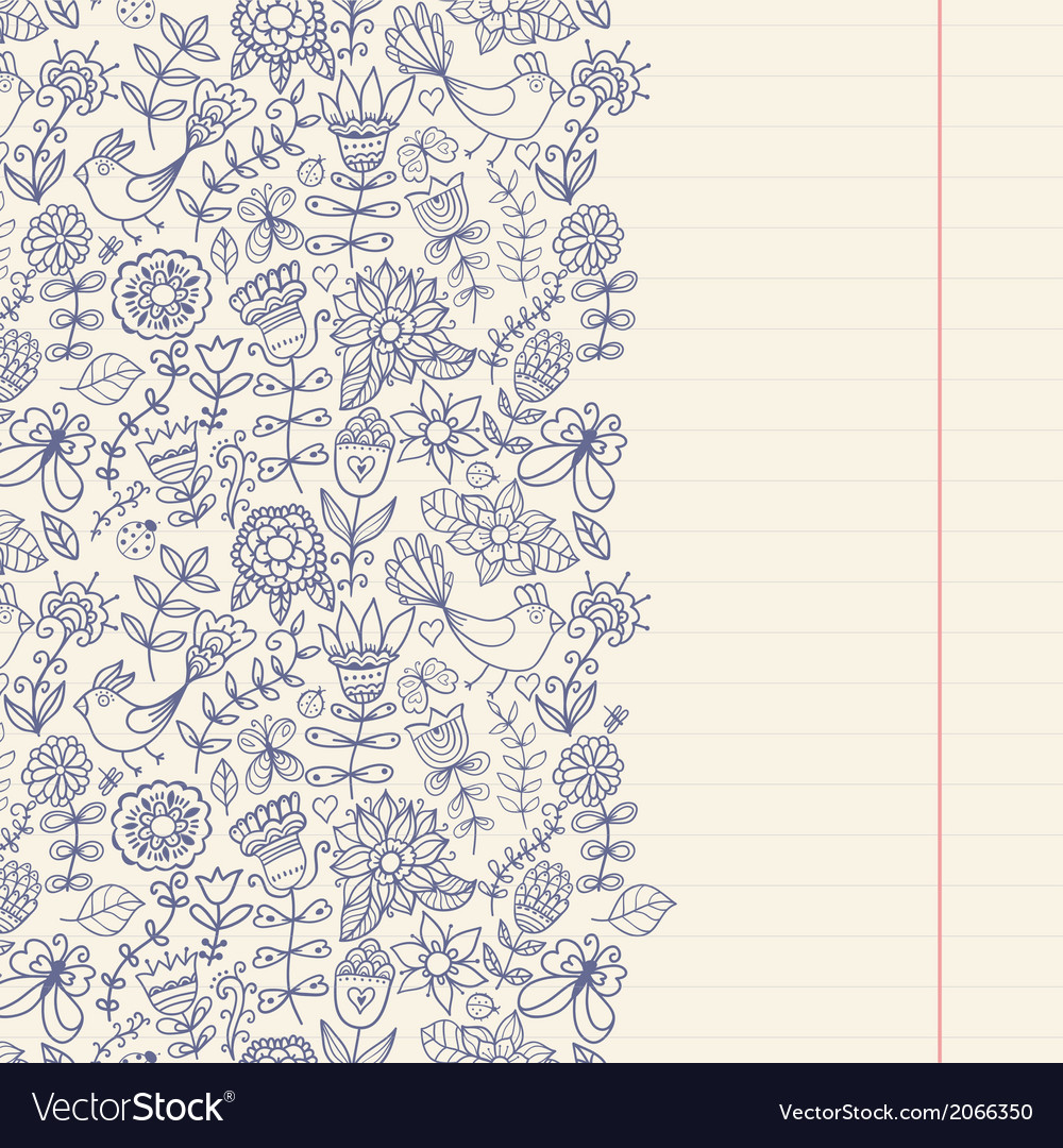 Floral background vintage retro background with vector | Price: 1 Credit (USD $1)