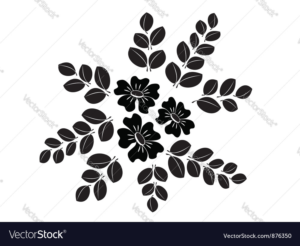 Floral element for design vector | Price: 1 Credit (USD $1)