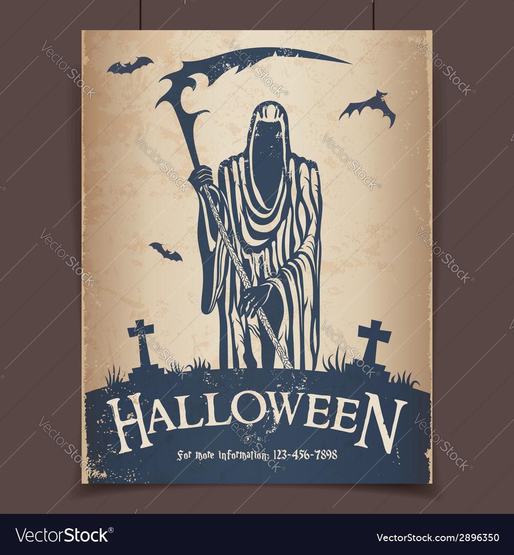 Halloween grim reaper vector | Price: 1 Credit (USD $1)