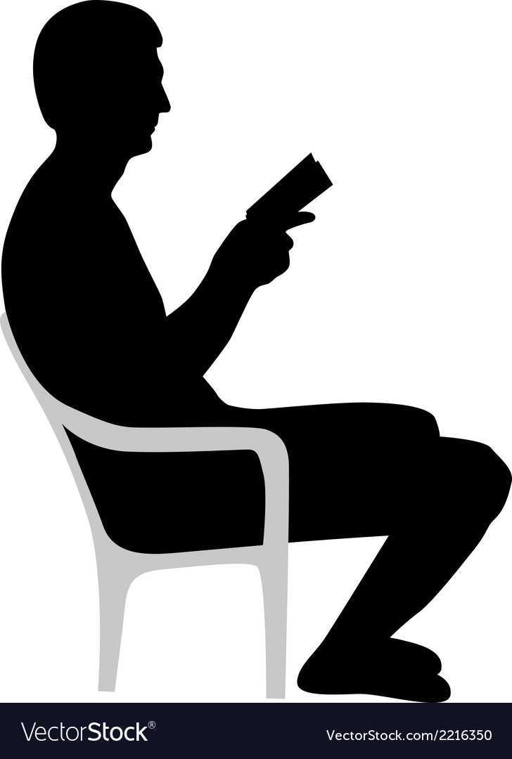 Man is reading a book vector | Price: 1 Credit (USD $1)