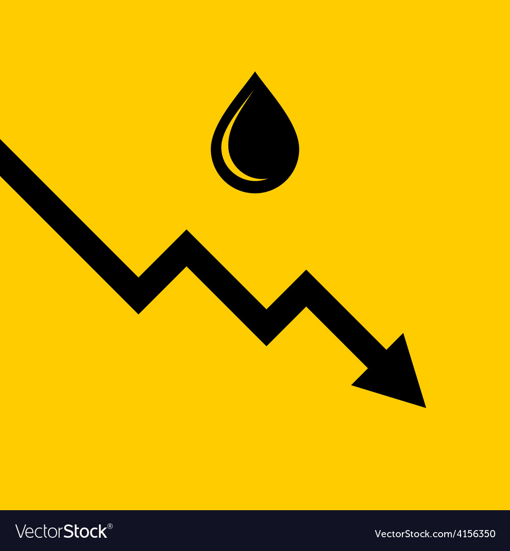 Oil price fall graph vector | Price: 1 Credit (USD $1)
