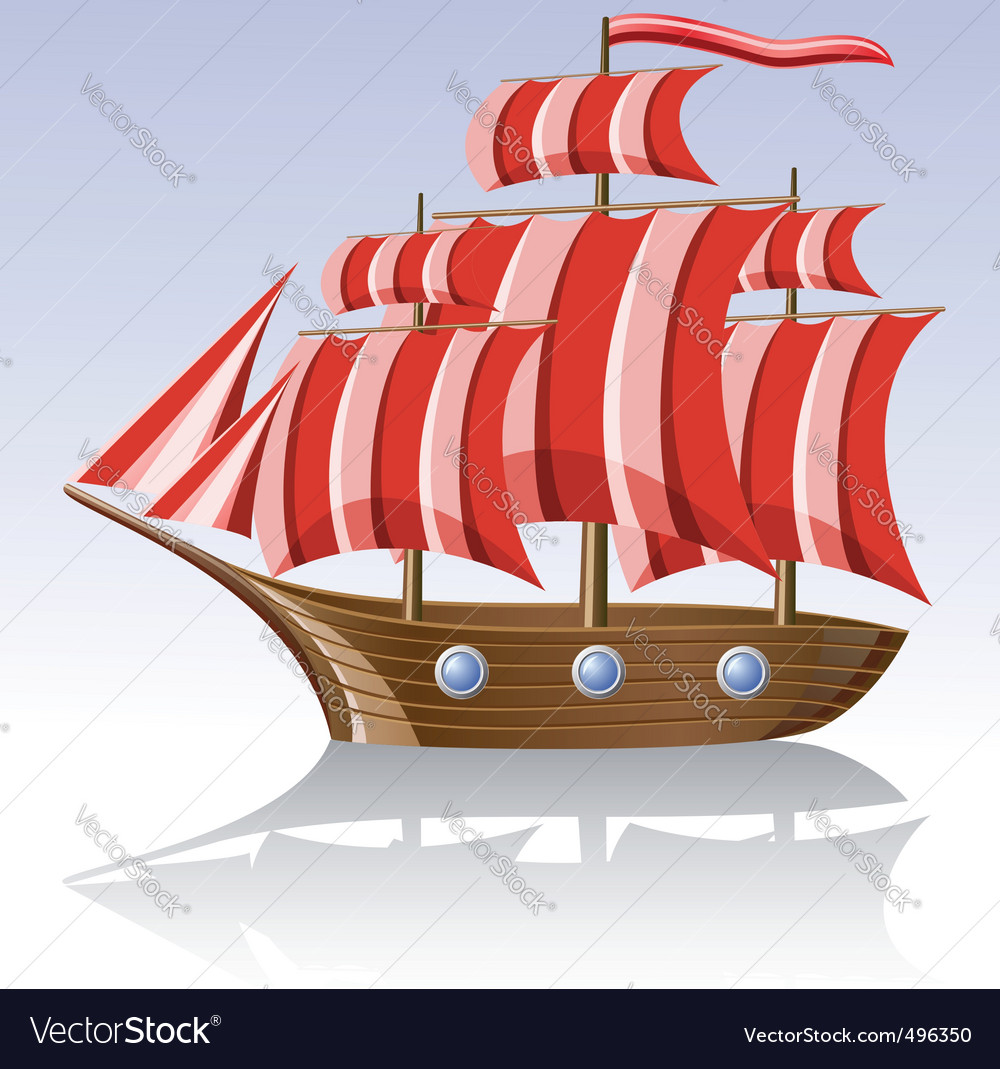 Old sailing vessel vector | Price: 3 Credit (USD $3)