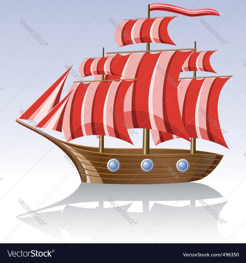 Old sailing vessel vector   Price: 3 Credit (USD $3)