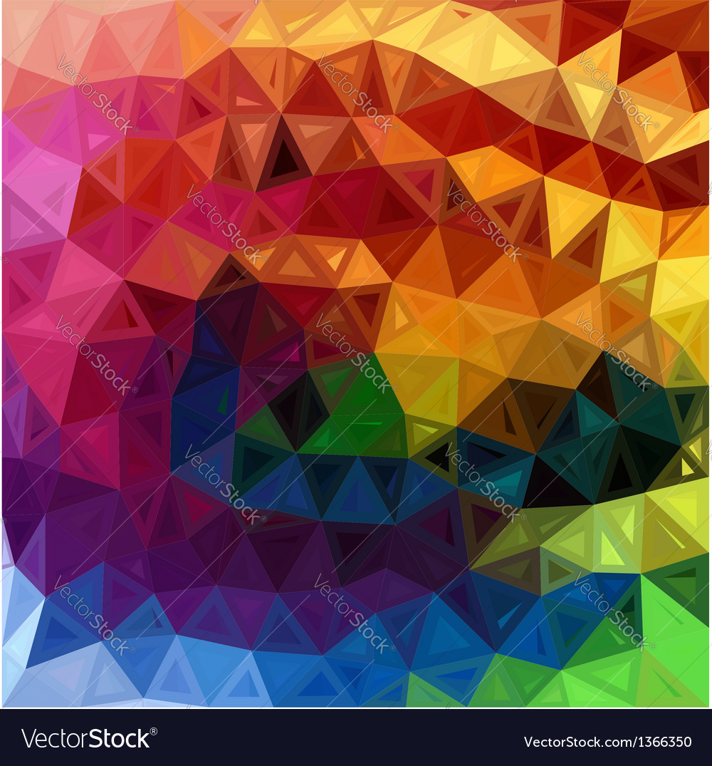 Rainbow colors abstract triangles background vector | Price: 1 Credit (USD $1)